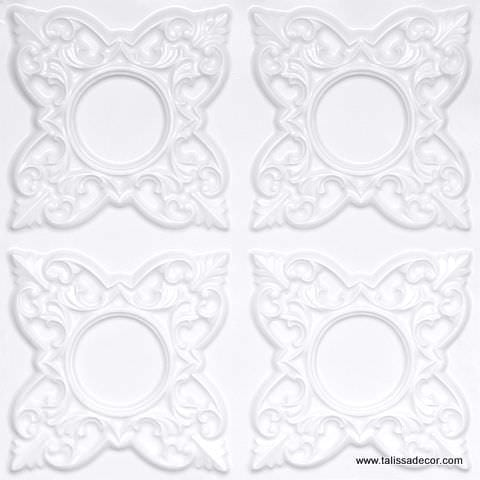 133 White Pearl Faux Tin Ceiling Tile