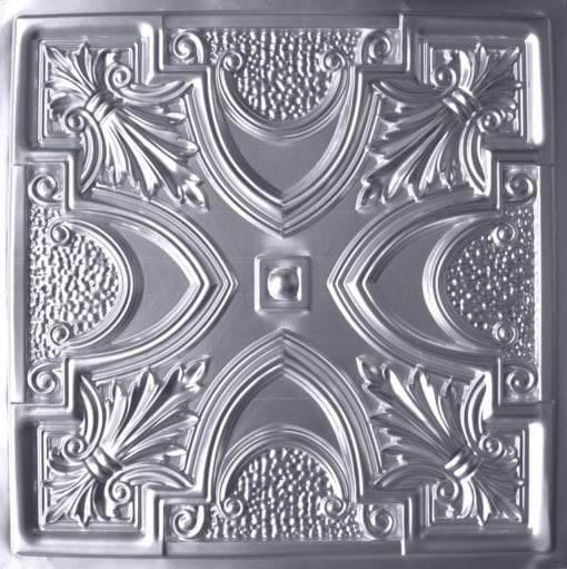 TD11 Brushed Nickel Faux Tin Ceiling Tile - Talissa Signature Collection