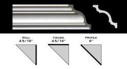"110ML - Polystyrene Crown Molding 6"" wide"