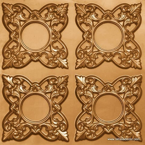 133 Gold Faux Tin Ceiling Tile