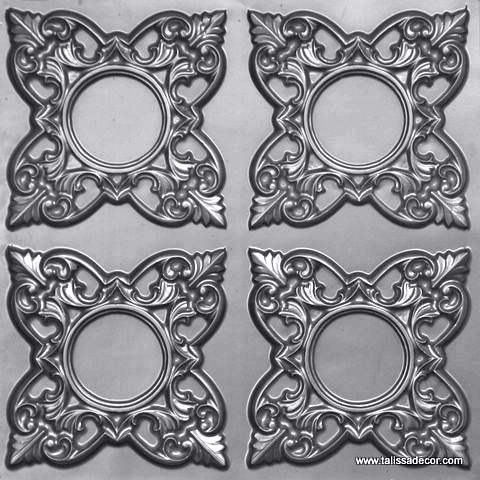 133 Silver Faux Tin Ceiling Tile