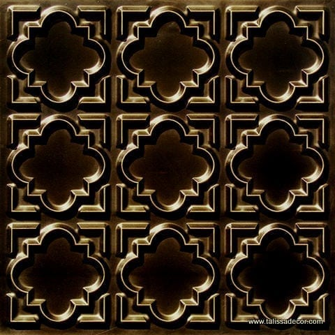 142 Antique Brass Faux Tin Ceiling Tile