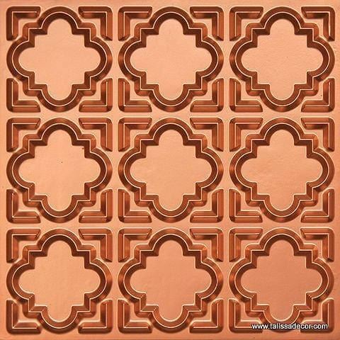 142 Copper Faux Tin Ceiling Tile