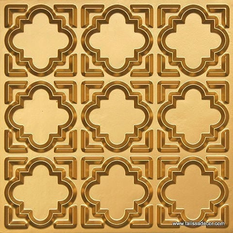 142 Gold Faux Tin Ceiling Tile