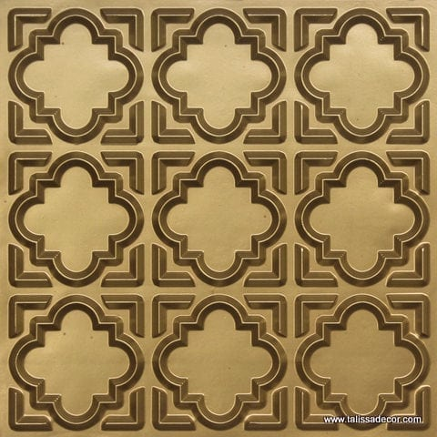 142 Brass Faux Tin Ceiling Tile