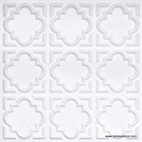 142 White Pearl Faux Tin Ceiling Tile