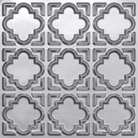 142 Silver Faux Tin Ceiling Tile