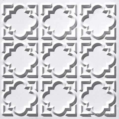 142 White Matte Faux Tin Ceiling Tile