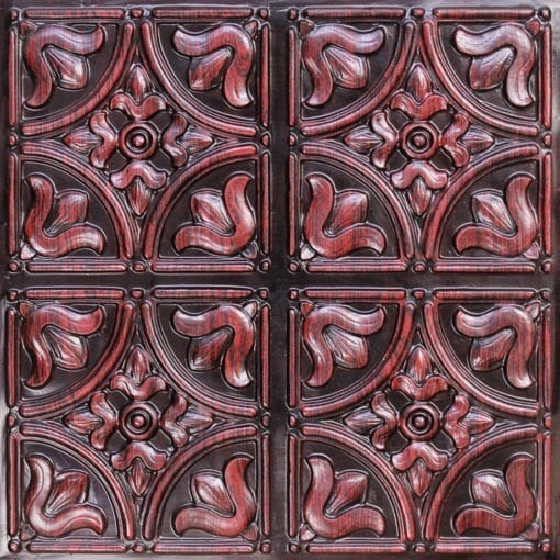 148 Antique Rosewood Faux Tin Ceiling Tile