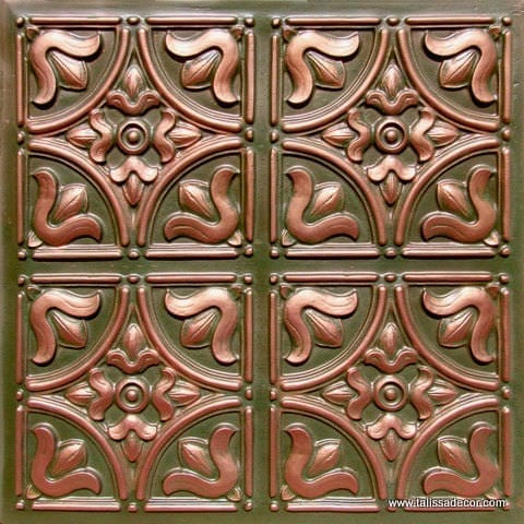 148 Patina Copper  Faux Tin Ceiling Tile