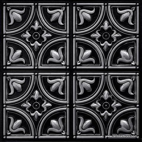 148 Antique Silver Faux Tin Ceiling Tile