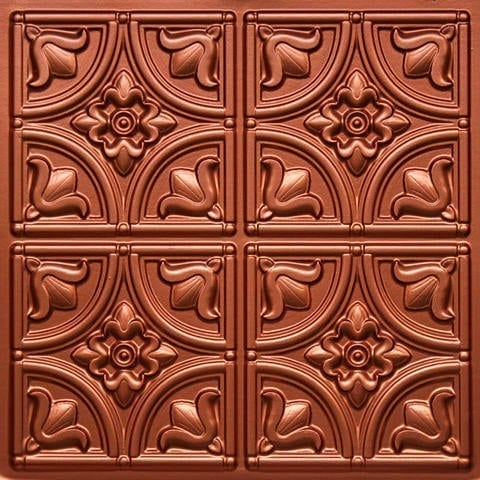 148 Copper Faux Tin Ceiling Tile