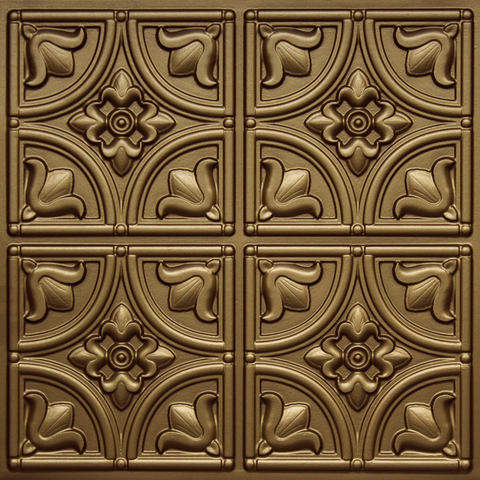 148 Brass Faux Tin Ceiling Tile