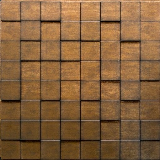3D Thermoplastic wall panel - Harmony Cube - Gold Thread
