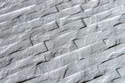 3D Thermoplastic wall panel - Ledgestone - Crystal White