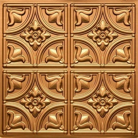 148 Gold Faux Tin Ceiling Tile