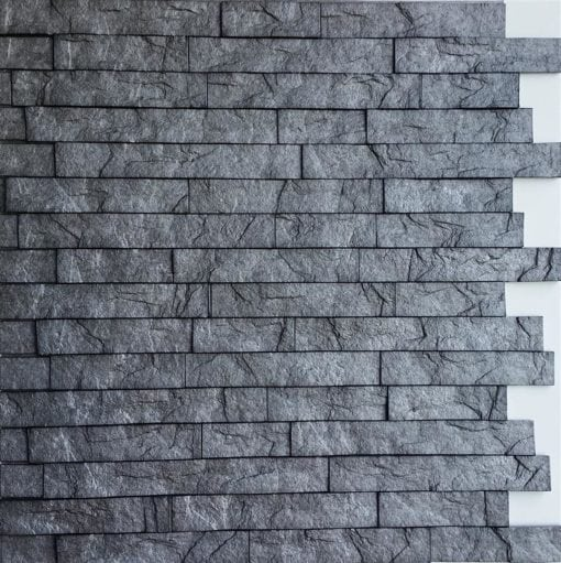 3D Thermoplastic wall panel - Ledgestone - Portland Cement