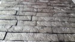 3D Thermoplastic wall panel - Ledgestone -  Sparkle Grey