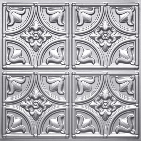 148 Silver Faux Tin Ceiling Tile