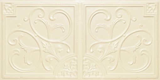 8204  Faux Tin Ceiling Tiles - Cream Pearl