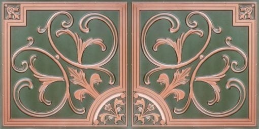8204  Faux Tin Ceiling Tiles - Patina Copper