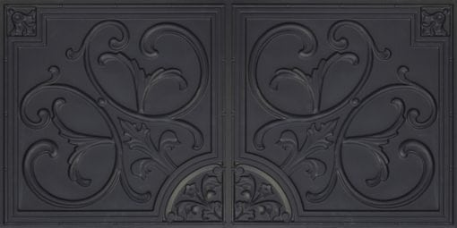 8204  Faux Tin Ceiling Tiles - Black Matte
