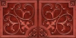 8204  Faux Tin Ceiling Tiles - Brushed Copper