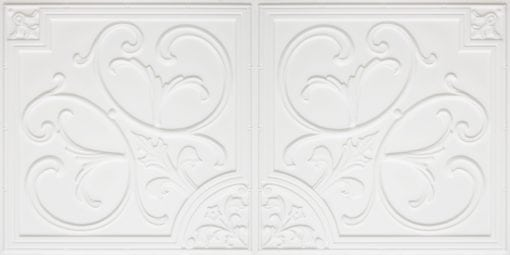 8204  Faux Tin Ceiling Tiles - White Matte