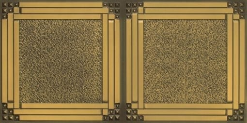 8209  Faux Tin Ceiling Tiles - Antique Brass