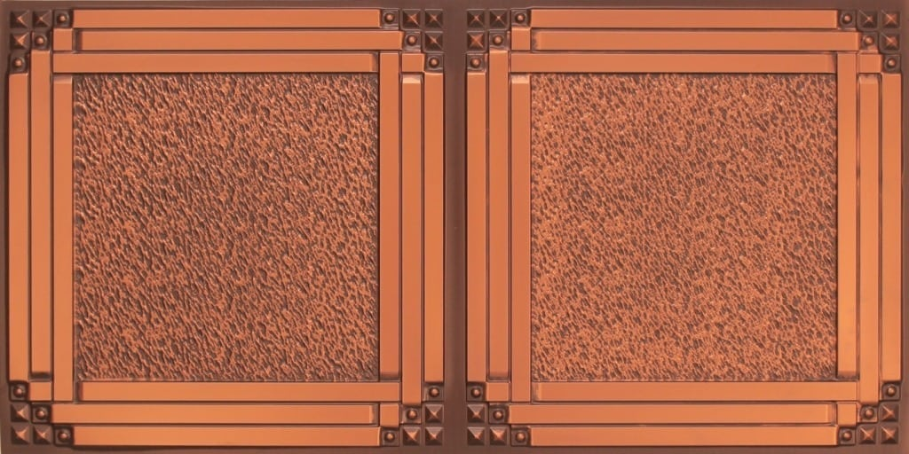 8209  Faux Tin Ceiling Tiles - Antique Copper