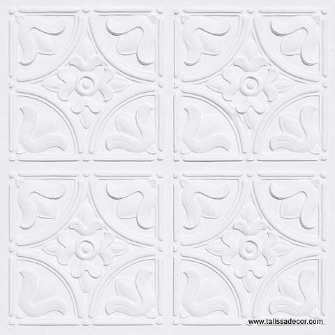 148 White Matte Faux Tin Ceiling Tile