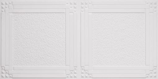 8209  Faux Tin Ceiling Tiles - White Matte