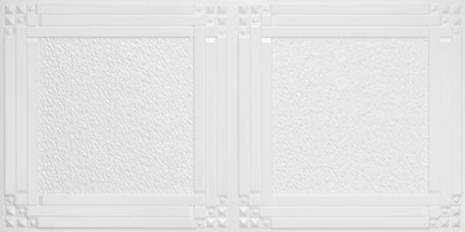 8209  Faux Tin Ceiling Tiles - White Pearl