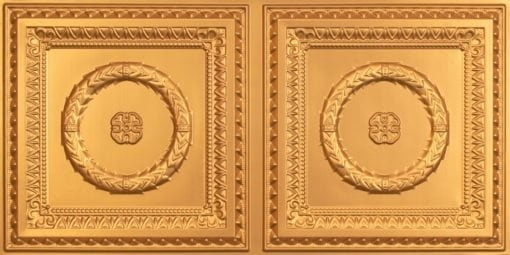 8210 Faux Tin Ceiling Tile - Gold