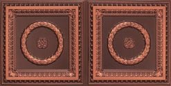 8210 Faux Tin Ceiling Tile - Antique Copper