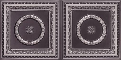 8210 Faux Tin Ceiling Tile - Antique Silver