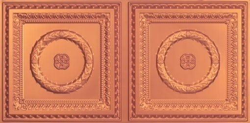 8210 Faux Tin Ceiling Tile - Copper