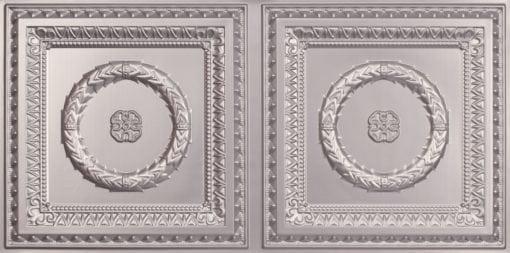 8210 Faux Tin Ceiling Tile- Silver