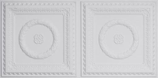 8210 Faux Tin Ceiling Tile - White Matte