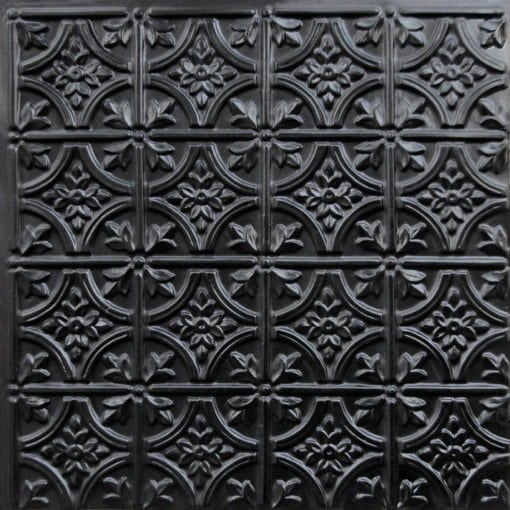 150 Black Glossy Faux Tin Ceiling Tile