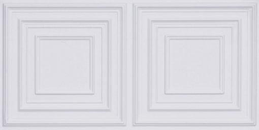 8222 Faux Tin Ceiling Tile - White Matte