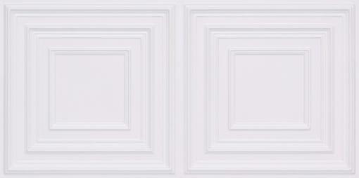 8222 Faux Tin Ceiling Tile - White Pearl