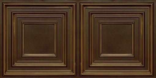 8222 Faux Tin Ceiling Tile - Antique Brass