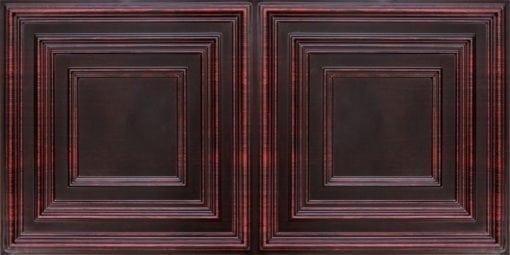 8222 Faux Tin Ceiling Tile - Antique Rosewood