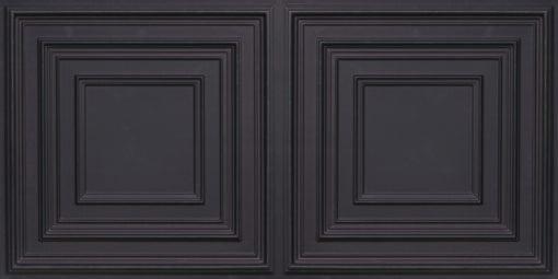 8222 Faux Tin Ceiling Tile - Black Matte