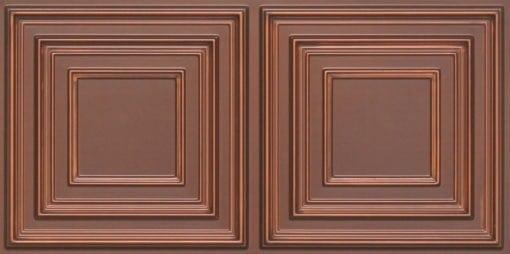 8222 Faux Tin Ceiling Tile - Antique Copper