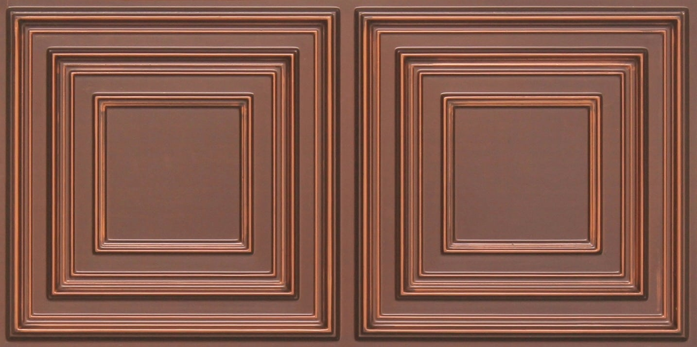 8222 Faux Tin Ceiling Tile - Antique Copper