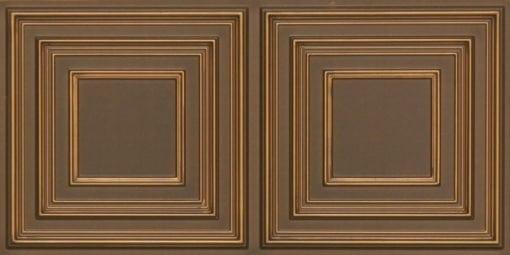 8222 Faux Tin Ceiling Tile - Antique Gold
