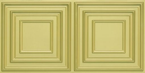 8222 Faux Tin Ceiling Tile - Brass