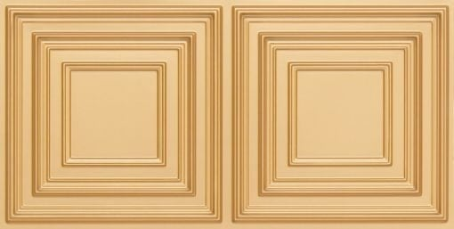 8222 Faux Tin Ceiling Tile - Gold